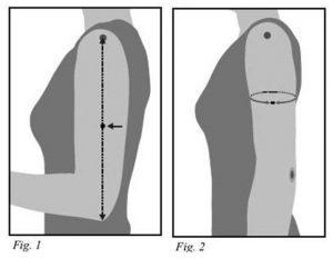 תמונת הסבר מה למדוד והיכן, מקבילה להסבר המפורט מטה