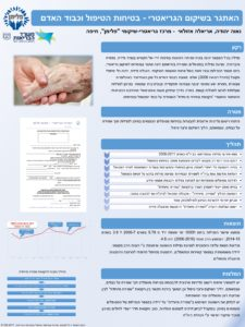 פוסטר - שמירה נגד נפילות למטופל הקשיש